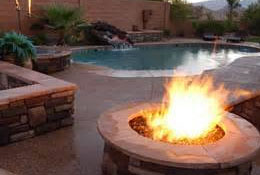 Varsity Pools Outdoor Fireplaces
